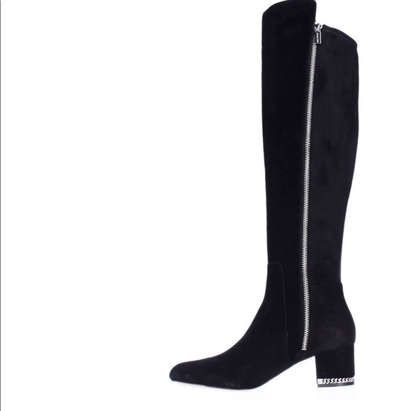 42034cd4817 Michael Kors Black Suede Boots Size 10